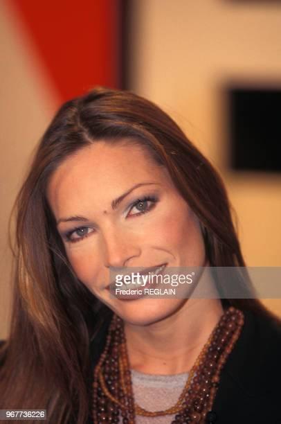 Laurence Treil mannequin et présentatrice de télévision le 22 novembre 1997 à Paris France