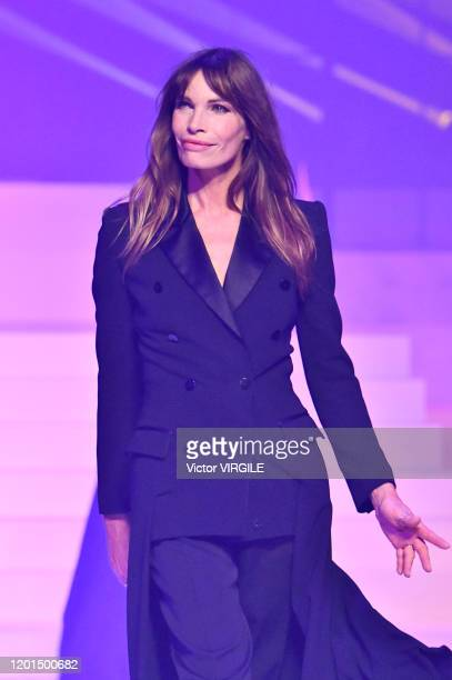 Laurence Treil walks the runway during the JeanPaul Gaultier Haute Couture Spring/Summer 2020 fashion show as part of Paris Fashion Week at Theatre...