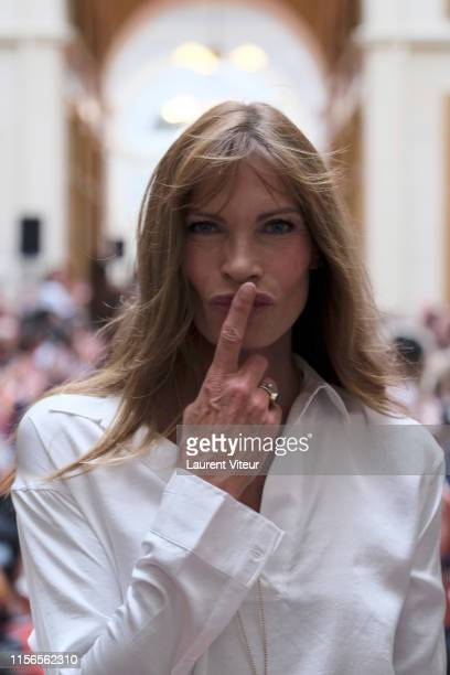 Laurence Treil walks the runway during the Over Fiftyet Alors fashion show on June 17 2019 in Paris France