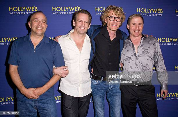 Laurence Whiting Jeffrey Patrick Olson Leon Acord and Bruce L Hart attend the 2nd annual HollyWeb Festival at Avalon on April 7 2013 in Hollywood...