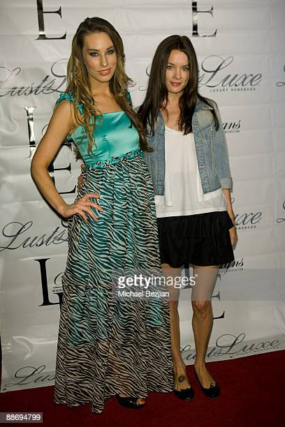 LaurenElaine and Gina Holden attend the LaurenElaine designs runway event at Le Doux on June 25 2009 in Los Angeles California