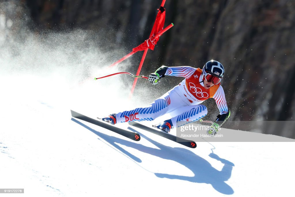 Laurenne Ross of the United States competes during the Alpine Skiing Ladies Super-G on day eight of the PyeongChang 2018 Winter Olympic Games at Jeongseon Alpine Centre on February 17, 2018 in Pyeongchang-gun, South Korea.