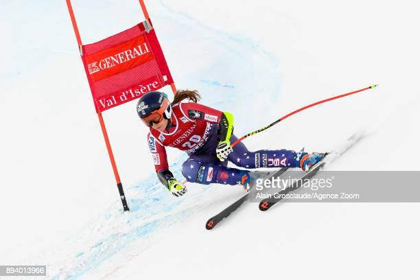 Laurenne Ross of USA competes during the Audi FIS Alpine Ski World Cup Women's Super G on December 17 2017 in Vald'Isere France