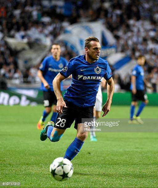 Laurens De Bock defender of Club Brugge pictured during UEFA Champions League Group G stage match between Club Brugge and FC Copenhagen in Parken...
