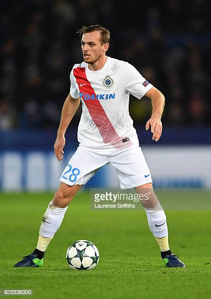 Laurens De Bock of FC Club Brugge in action during the UEFA Champions League match between Leicester City FC and Club Brugge KV at The King Power...