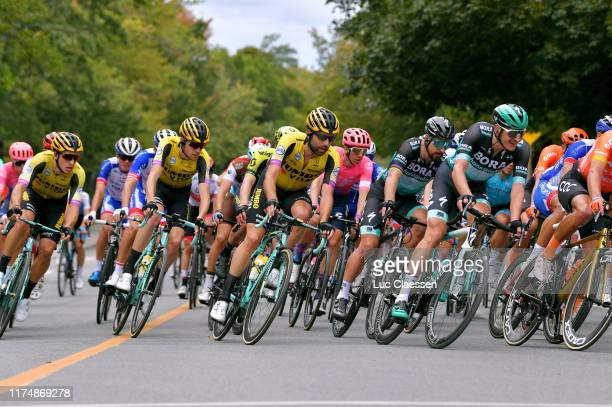 Laurens De Plus of Belgium and and Team Jumbo Visma / Tom Leezer of The Netherlands and and Team Jumbo Visma / Michael Woods of Canada and Team EF...