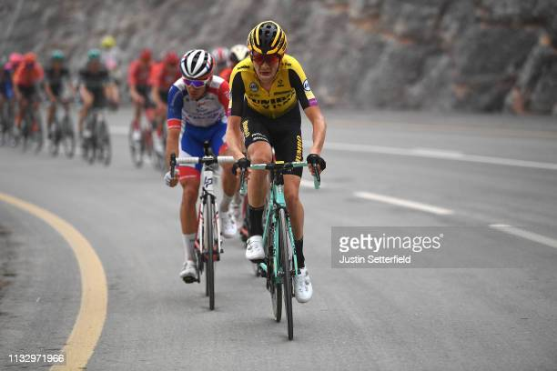 Laurens De Plus of Belgium and Team JumboVisma / during the 5th UAE Tour 2019 Stage 6 a 180km stage from Ajman to Jebel Jais 1475m / #UAETour / on...