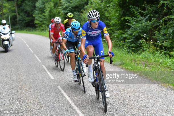 Laurens De Plus of Belgium and Team QuickStep Floors / Dario Cataldo of Italy and Astana Pro Team Polka Dot Mountain Jersey / Nicolas Edet of France...