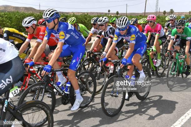 Laurens De Plus of Belgium and Team QuickStep Floors / Pieter Serry of Belgium and Team QuickStep Floors / Peloton / during the 73rd Tour of Spain...