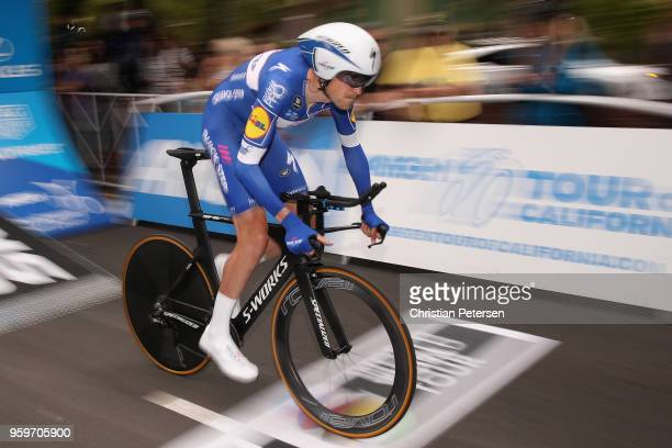 Laurens De Plus of Belgium riding for Team QuickStep Floors rides from the start during stage four of the 13th Amgen Tour of California 2018 San Jose...