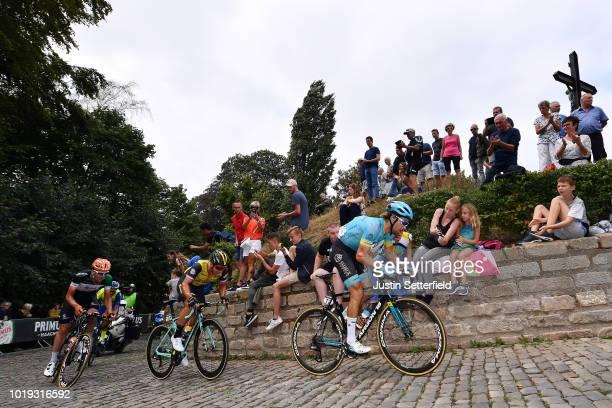 Laurens De Vreese of Belgium and Astana Pro Team / Dylan Groenewegen of Netherlands and Team Lotto Nl - Jumbo / Elmar Reinders of Netherlands and...