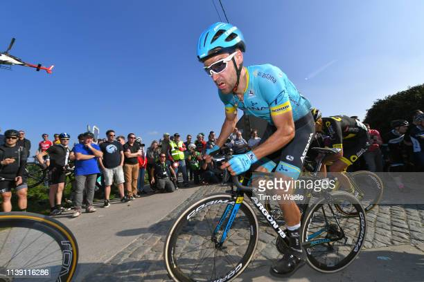 Laurens De Vreese of Belgium and Astana Pro Team / Paterberg / Cobblestones / Fans / Public / during the 62nd E3 Harelbeke 2019 a 203,9km race from...