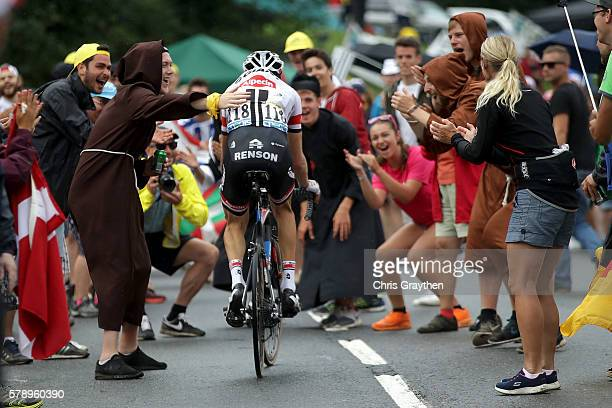 Laurens Ten Dam of Netherlands riding for Team GiantAlpecin rides through fans during stage ninteen of the 2016 Le Tour de France a 146km stage from...