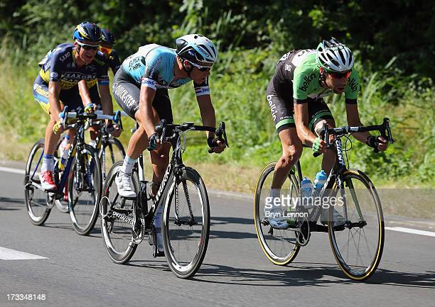 Laurens Ten Dam of the Netherlands and Belkin in action during stage thirteen of the 2013 Tour de France, a 173KM road stage from Tours to...