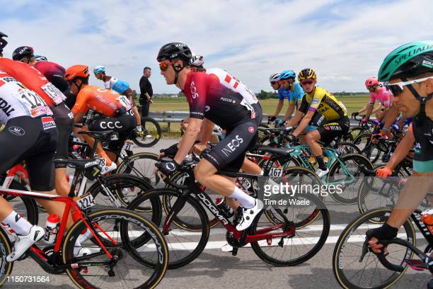 Laurens Ten Dam of The Netherlands and CCC Team / Salvatore Puccio of Italy and Team INEOS / Koen Bouwman of The Netherlands and Team Jumbo - Visma /...