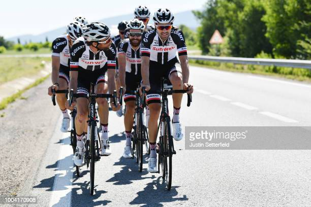 Laurens Ten Dam of The Netherlands and Team Sunweb / Simon Geschke of Germany and Team Sunweb / Tom Dumoulin of The Netherlands and Team Sunweb /...
