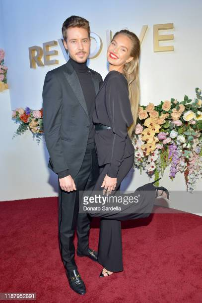 Laurens van Leeuwen and Romee Strijd attend the #REVOLVEawards 2019 at Goya Studios on November 15 2019 in Hollywood California