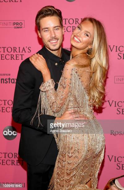 Laurens van Leeuwen and Romee Strijd attends the 2018 Victoria's Secret Fashion Show After Party on November 8 2018 in New York City