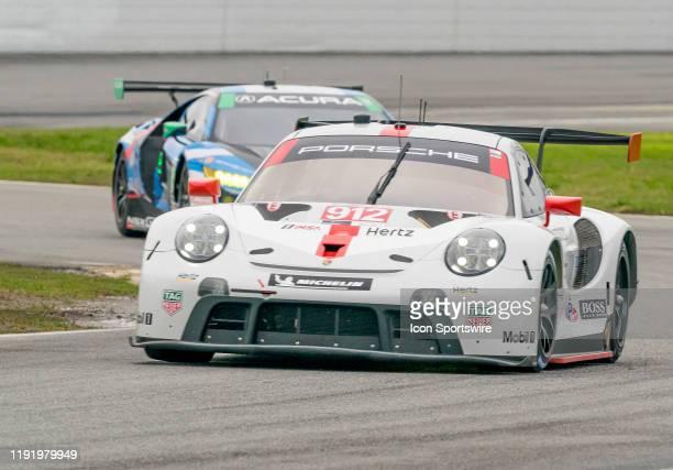 Laurens Vanthoor BEL Earl Bamber NZL Mathieu Jaminet FRA driver GT LE MANS of Porsche GT Team~Porsche 911 RSR 19 during the Roar before 24 IMSA Race...