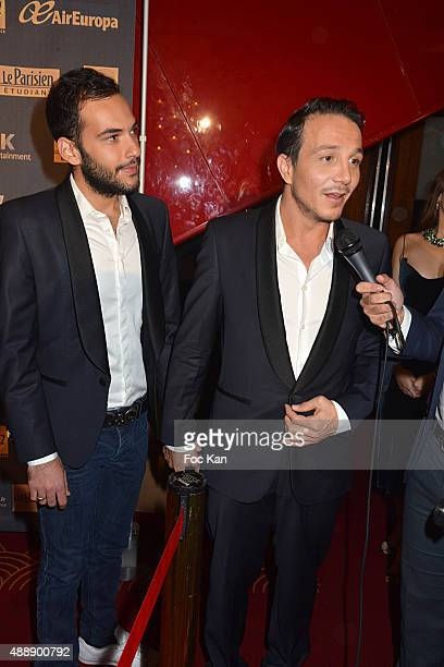 Laurent Artufel and his husband Jeremy Artufel d'Ancona attend the '35th Nuit des Publivores' at Grand Rex September 17 2015 in Paris France