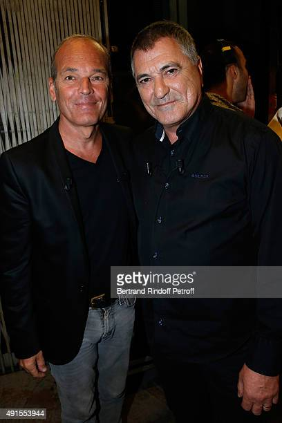 Laurent Baffie and Main Guest of the show Humorist JeanMarie Bigard attend the 'Vivement Dimanche' French TV Show at Pavillon Gabriel on October 6...