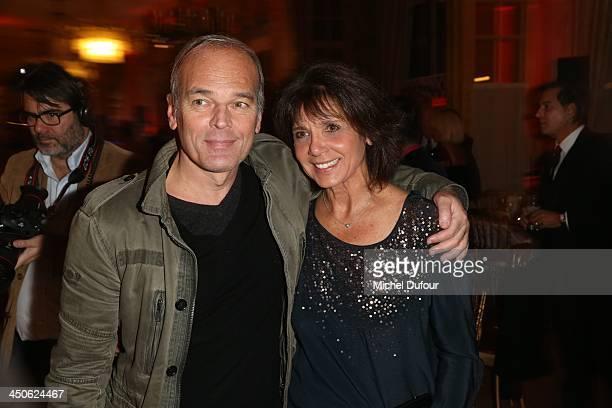 Laurent Baffie and Stephanie Fugain attend the 'La Guinguette De Regine' Party at Cercle Des Armees on November 19 2013 in Paris France