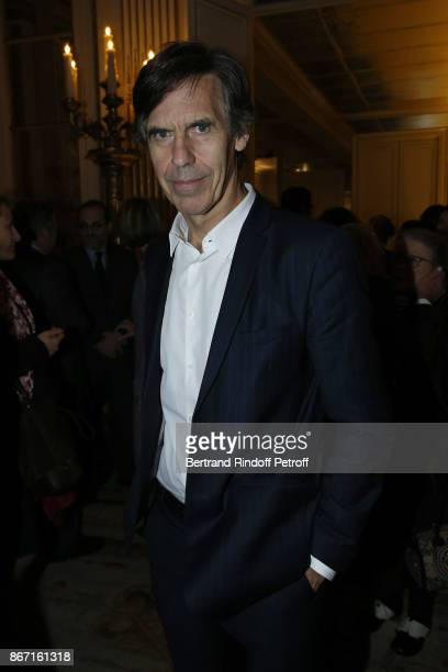 Laurent Bayle Directeur General de la Cite de la Musique attends the award ceremony at the Ministere de la Culture for the Israeli Filmmaker Amos...