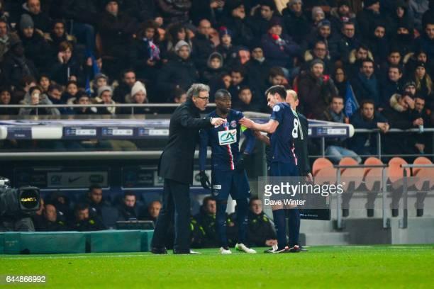 Laurent BLANC / Blaise MATUIDI / Thiago MOTTA Paris Saint Germain / Nantes 1/8Finale Cupe de France Photo Dave Winter / Icon Sport
