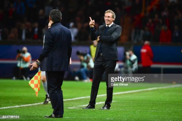 Laurent BLANC / Christophe GALTIER - - Paris Saint Germain / Saint Etienne - 29eme journee de Ligue 1, Photo : Dave Winter / Icon Sport