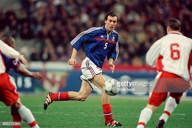 Laurent Blanc in action during a friendly match against Poland France won 10 | Location Saint Denis France