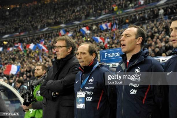 Laurent BLANC Jean Louis GASSET Alain BOGHOSSIAN France / Bresil Match amical Stade de France