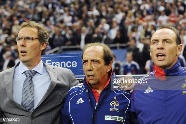 Laurent BLANC / Jean Louis GASSET / Alain BOGHOSSIAN France / Roumanie Eliminatoires Euro 2012 Stade de France Paris