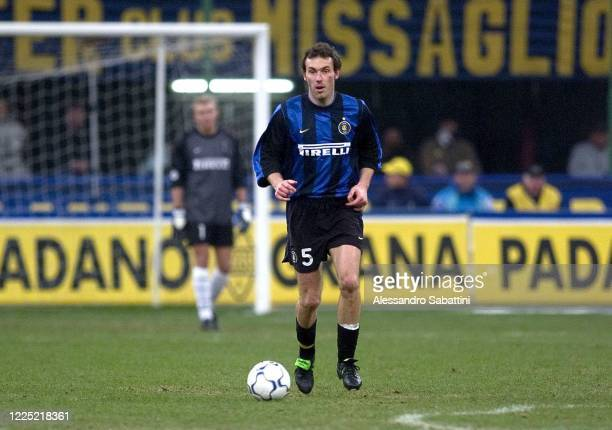 Laurent Blanc of FC Internazionale in action during the Serie A 200001 Italy