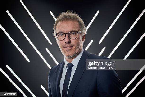 Laurent Blanc pictured inside the photo booth prior to The Best FIFA Football Awards at Royal Festival Hall on September 24 2018 in London England