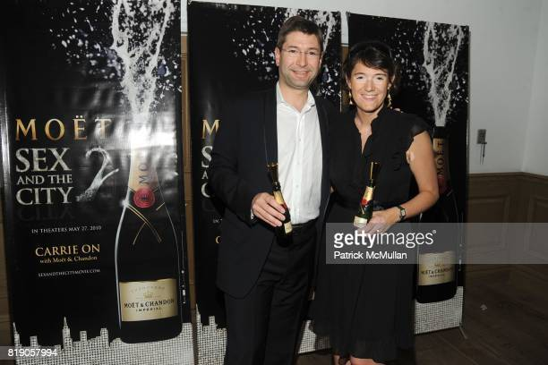 Laurent Boidevezi and Berangere Boidevezi attend MOET CHANDON Private Screening of Sex the City 2 at Crosby Street Hotel on May 26 2010 in New York...