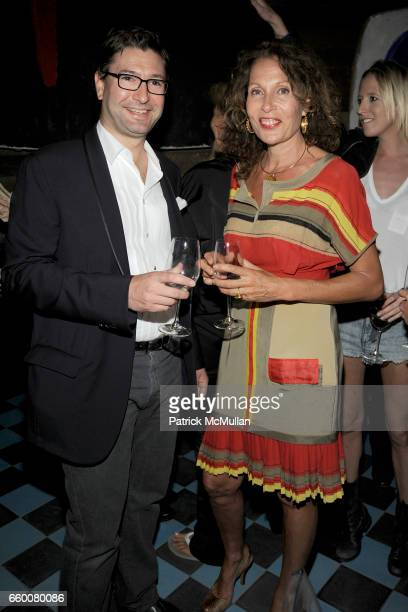 Laurent Boidevezi and Jacqueline Schnabel attend Dom Perignon and Vito Schnabel dinner in celebration of Terence Koh's book Flowers for Baudelaire at...