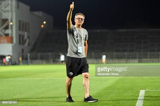 Laurent Boissier Sports Director of Nimes during the Ligue 2 match between Nimes and Le Havre AC at Stade des Costieres on August 25 2017 in Nimes...