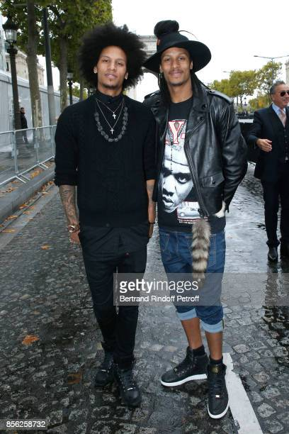 Laurent Bourgeois and Larry Bourgeois attend 'Le Defile L'Oreal Paris show' as part of the Paris Fashion Week Womenswear Spring/Summer 2018 on...