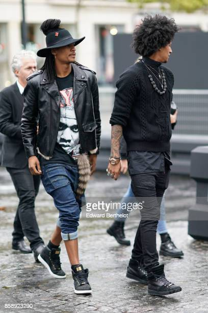 Laurent Bourgeois and Larry Bourgeois attend Le Defile L'Oreal Paris as part of Paris Fashion Week Womenswear Spring/Summer 2018 at Avenue Des Champs...