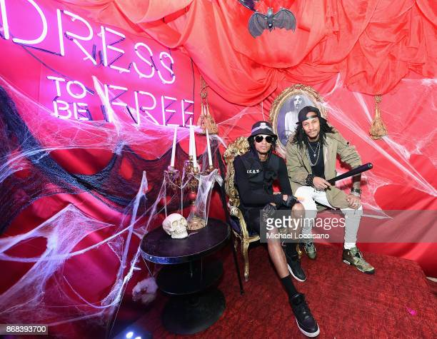 Laurent Bourgeois and Larry Nicolas Bourgeois of Les Twins attend BACARDI presents Dress To Be Free with performances by Cardi B and Les Twins at...