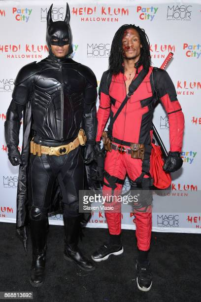 Laurent Bourgeois and Larry Nicolas Bourgeois of Les Twins attend Heidi Klum's 18th Annual Halloween Party presented by Party City and SVEDKA Vodka...