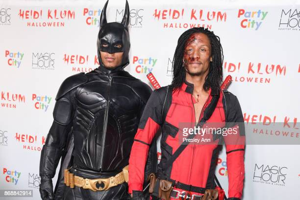 Laurent Bourgeois and Larry Nicolas Bourgeois of Les Twins attend Heidi Klum's 18th Annual Halloween Party at Magic Hour Rooftop Bar Lounge on...