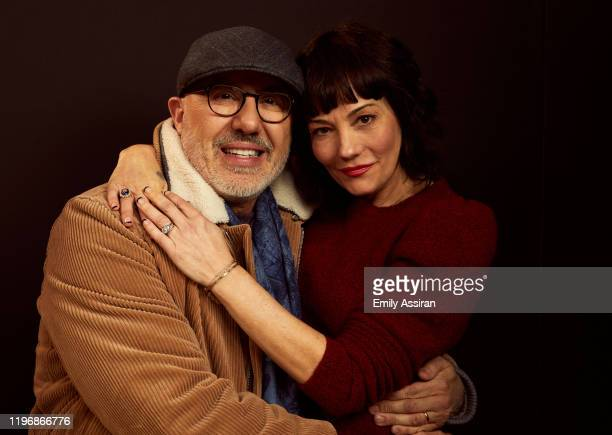 Laurent Bouzereau and Natasha Gregson Wagner from Natalie Wood What Remains Behind pose for a portrait at the Pizza Hut Lounge on January 26 2020 in...