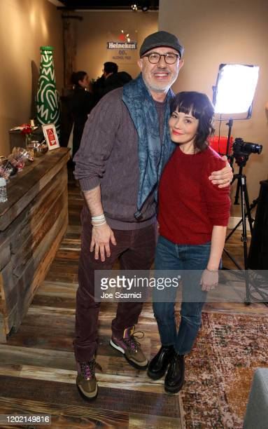 Laurent Bouzereau and Natasha Gregson Wagner of Natalie Wood What Remains Behind stop by TheWrap Studio sponsored by Heineken at Sundance Film...