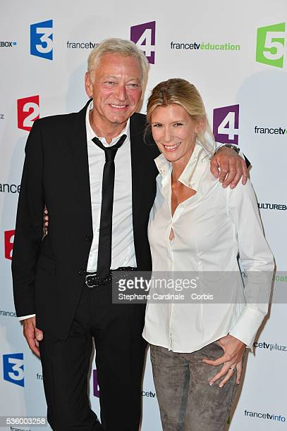 Laurent Boyer and Helene Gateau attend 'France Televisions' Photocall at Palais De Tokyo on August 26 2014 in Paris France