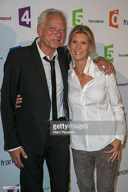 Laurent Boyer and Helene Gateau attend the 'Rentree de France Televisions' at Palais De Tokyo on August 26 2014 in Paris France
