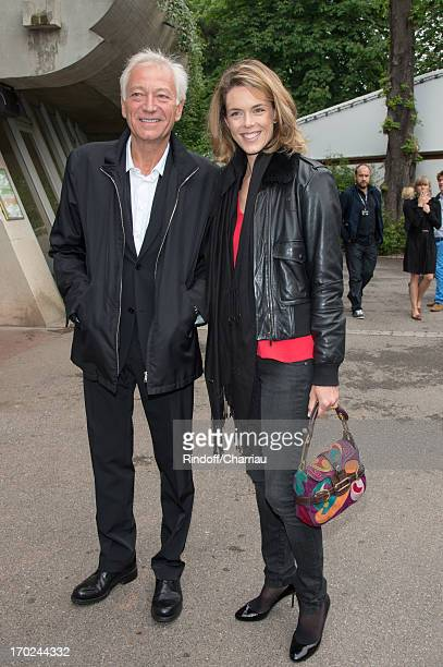 Laurent Boyer and Julie Andrieu sighting at the french open 2013 at Roland Garros on June 9 2013 in Paris France
