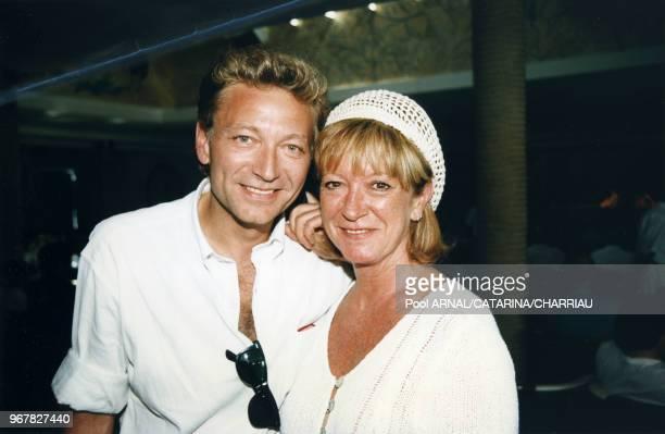 Laurent Boyer et Alice Dona lors du Festival de Cannes le 14 mai 1997 France