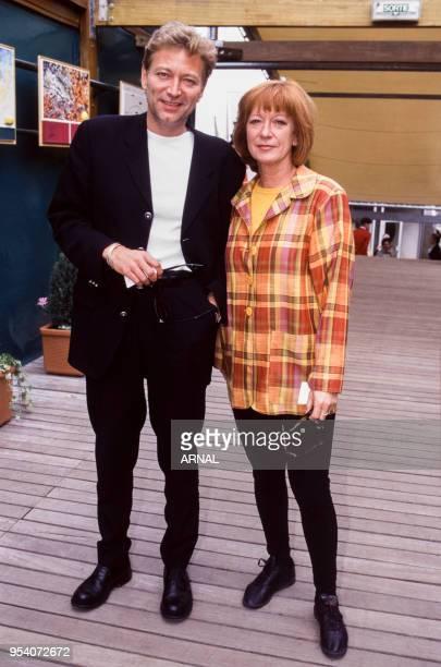Laurent Boyer et Alice Dona lors du tournoi de RolandGarros à Paris en juin 1996 France