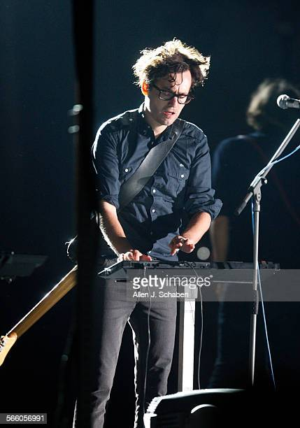 Laurent Brancowitz, guitar, keyboards, of the French pop band Phoenix performs at the Hollywood Bowl. Phoenix, who first rose to prominence through...